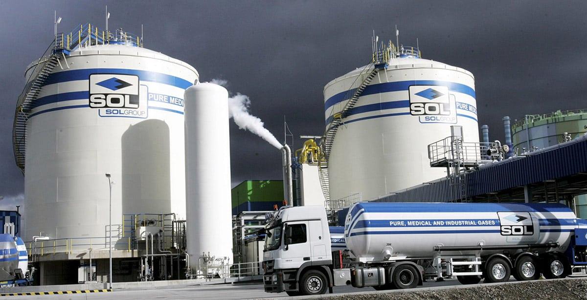 SOL Group ipari gáztöltő üzem
